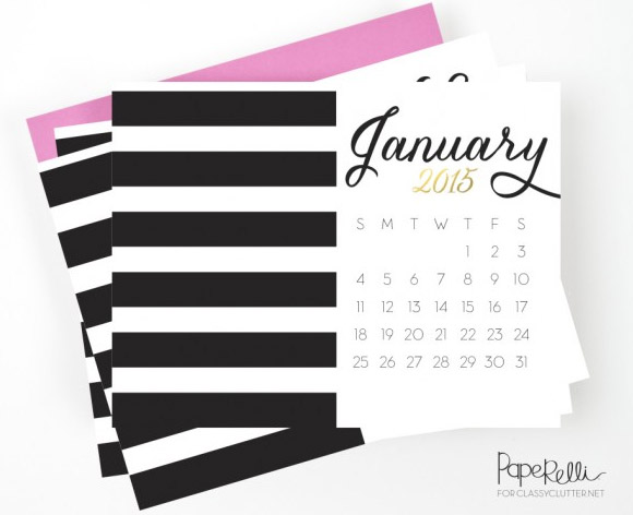 10 calendários grátis e lindos de 2015 para imprimir