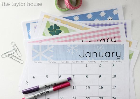 Mais um planner mensal que você pode imprimir conforme vai passando ...