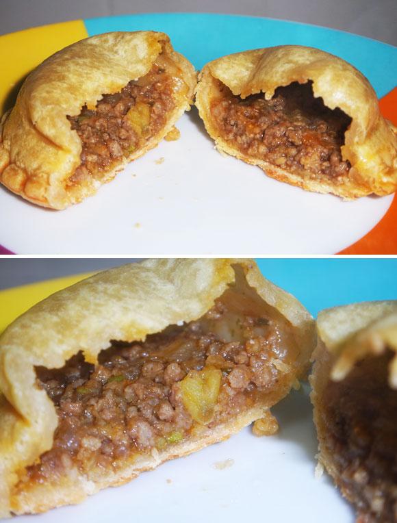 Empanadas congeladas de carne