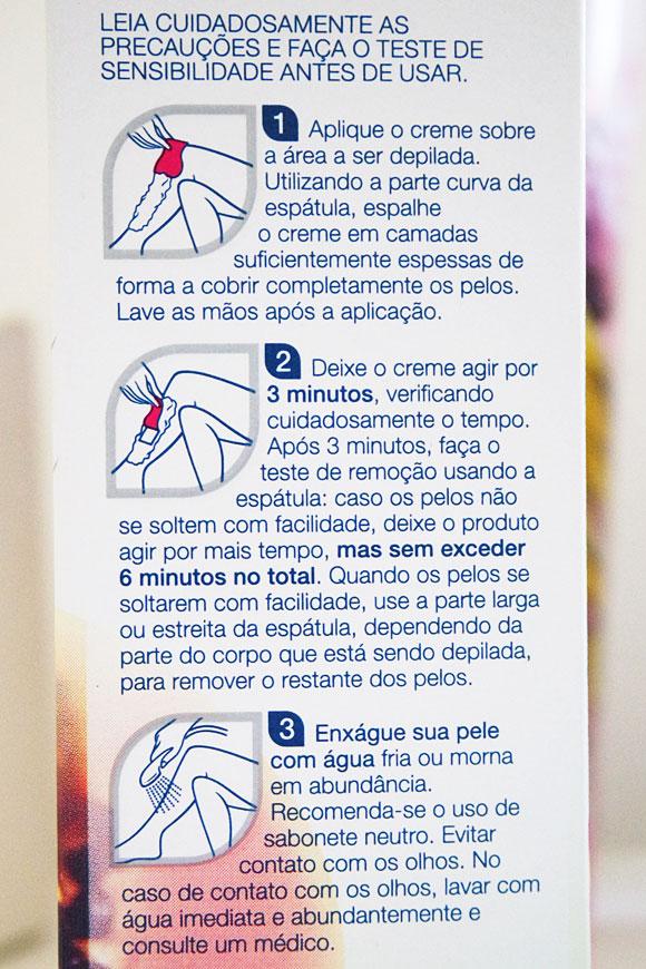 Veet creme depilatório instruções