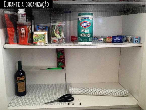 Organizando a despensa - durante